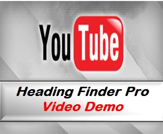 You Tube - Heading Finder Pro Video