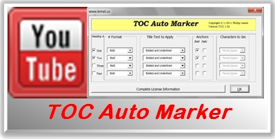 Table of Contents Auto Marker