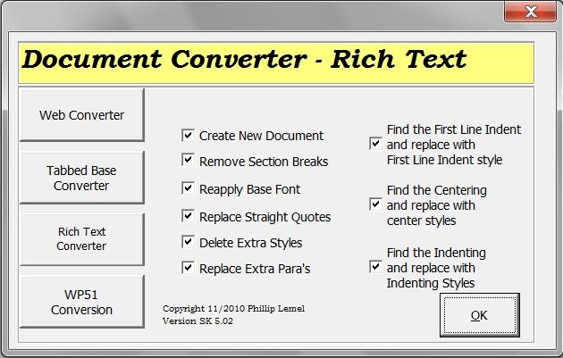 Rich Text Converter
