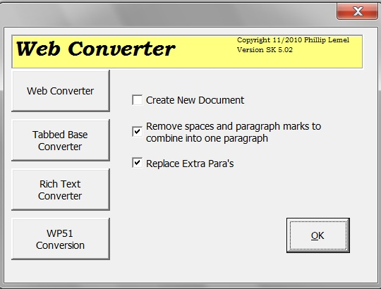 Web Converter